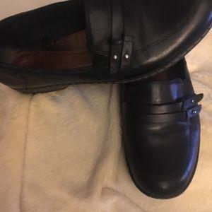 Cobb Hill ladies sz 8.5 W black leather shoes